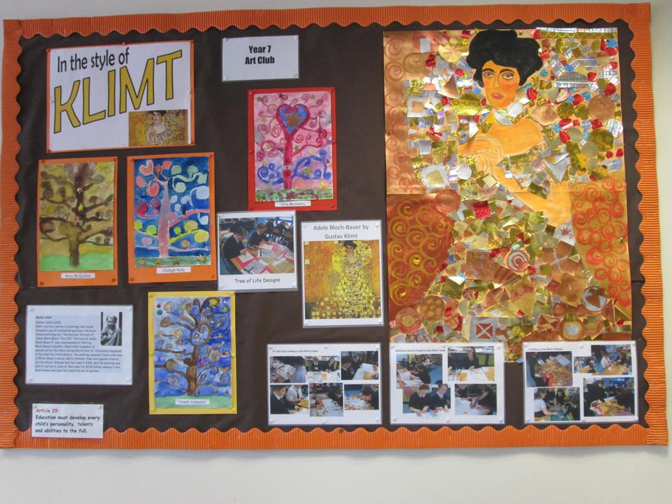 Klimt Display by P7 Art Club