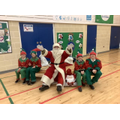 Santa and his elves visited