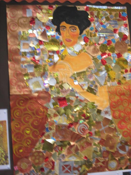 The Lady in Gold by P7 Art Club