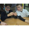 Making Spaghetti and jelly baby structures.