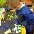 Exploring paints when creating firework pictures.