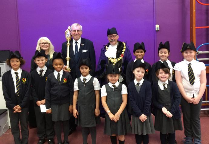 School Council, the Mayor and his Protector