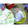Making pictures using jellybeans in Reception