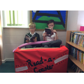 Enjoying reading time on our Read-a-Coaster.