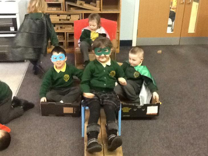 We explored SUPERHEROES!