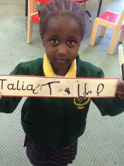 Fantastic writing Talia! Practise makes perfect!