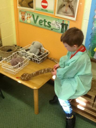 Wiktor the vet!