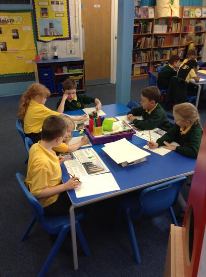 We read information leaflets about Stonehenge.
