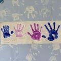 Matthew's family hand prints.