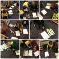 Year 1 answer addition questions with block towers