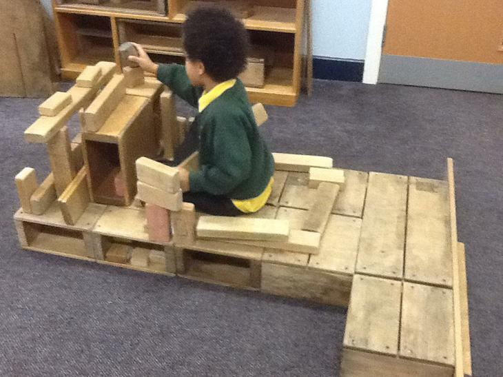 We made ambulances and fire engines in the bricks.
