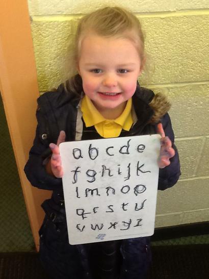 Letter formation ... great work Bella!