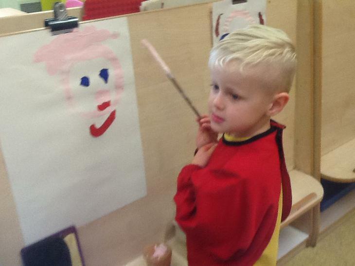 Joey chose to paint himself.