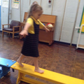 Year 1 practise their balance and agility skills!