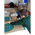 Safely cutting out our Viking Shield