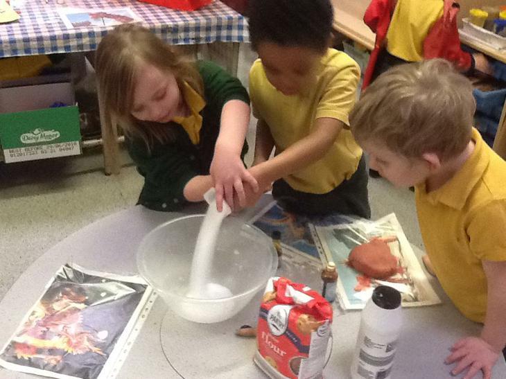 We made salt dough.