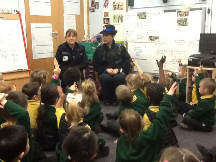 We had a visit from the PCSO's.