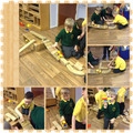 The children made a track for their cars!