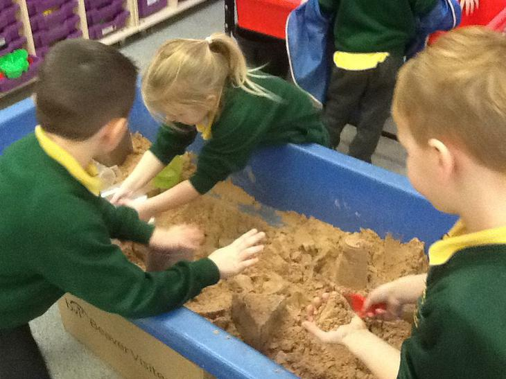 We explored capacity in the sand.