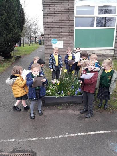 We went on a Spring Hunt and looked for different signs of growth and seasonal changes