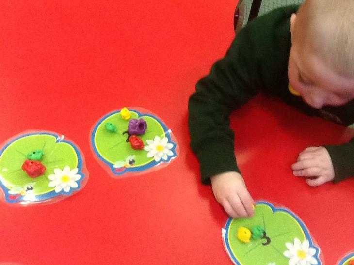 Counting frogs.