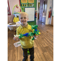 Keiron made a helicopter using the rabbit links.