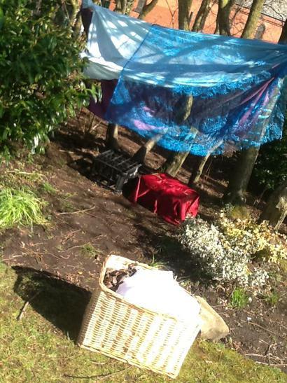 Our den in the Nursery Garden.