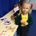 Zuzanna enjoyed the funky fingers activity.