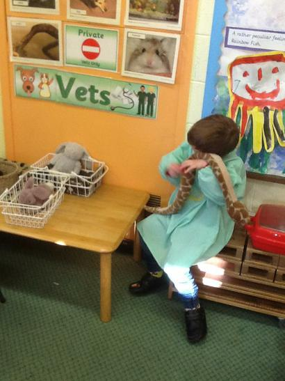 Looking after a poorly snake.