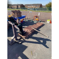 Paul made an aeroplane in the outdoor provision.