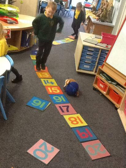 We practised ordering numbers to 20.