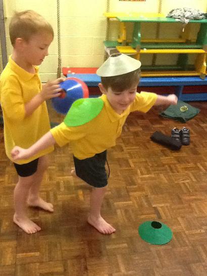 We practised our balancing skills.