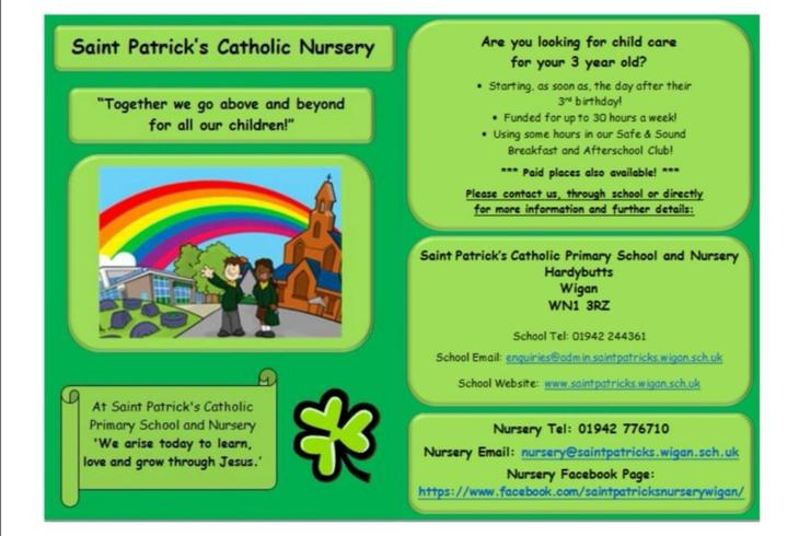 Contact Nursery Staff for more details ☘️