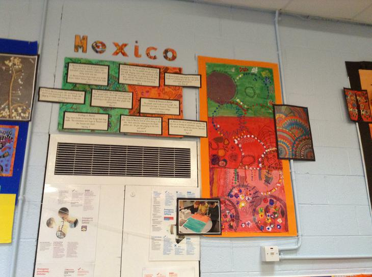 We explored Mexican Artwork.