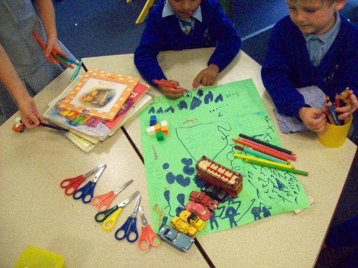 We worked together to make number museums.