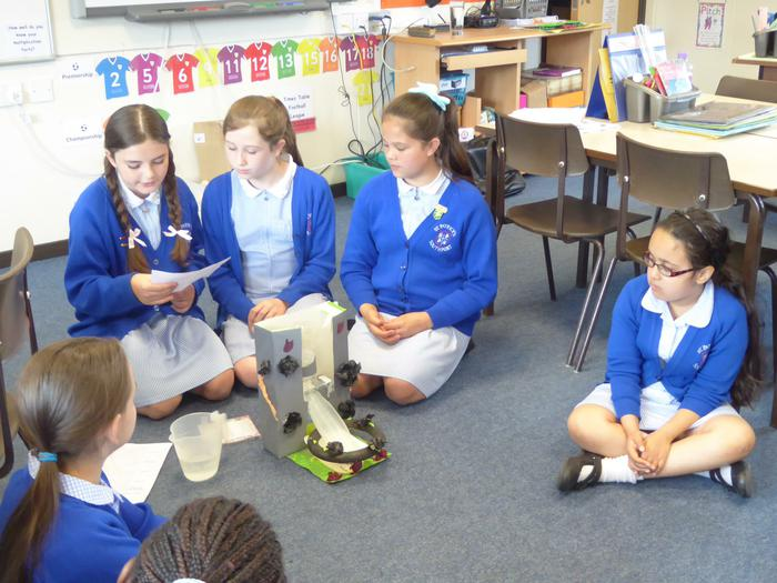 Year 6 delivered a 'Water' themed session