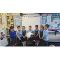 We enjoyed acting out a Baptism.