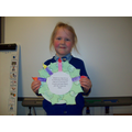We made advent wreaths and wrote advent prayers.