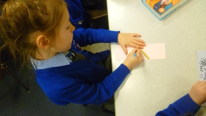 Creating our own bookmarks! (13).JPG