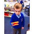 Creating models to use in imaginary play from shapes.