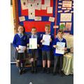 Year 5 presenting their manifestos