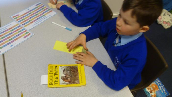 Creating our own bookmarks! (10).JPG