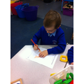 We coloured in pictures made from 2D shapes.
