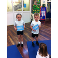 This weeks star gymnasts. Congratulations!