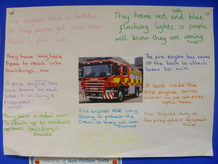 Facts we have learnt about fire engines.