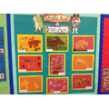 Our fantastic cave art, created using pastels.