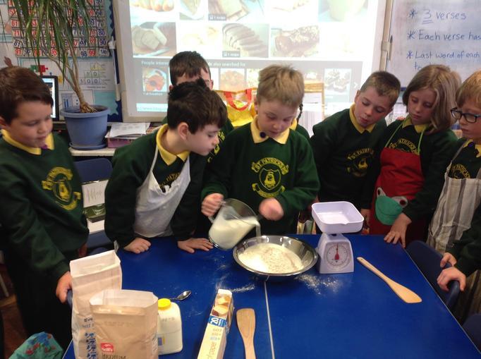 Pour mixture into bowl.