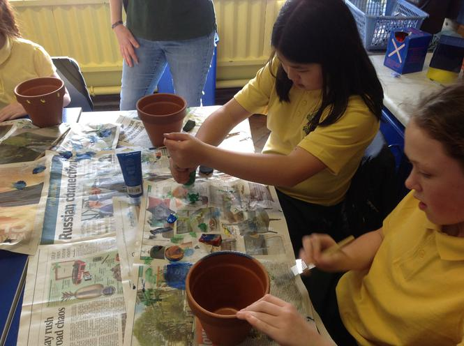 Painting our pots