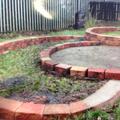 Beginning laying the bricks