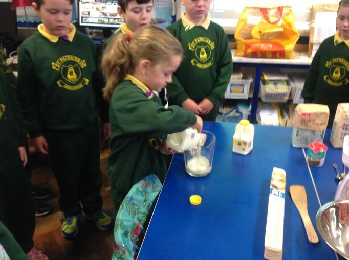Pour Buttermilk into a jug.